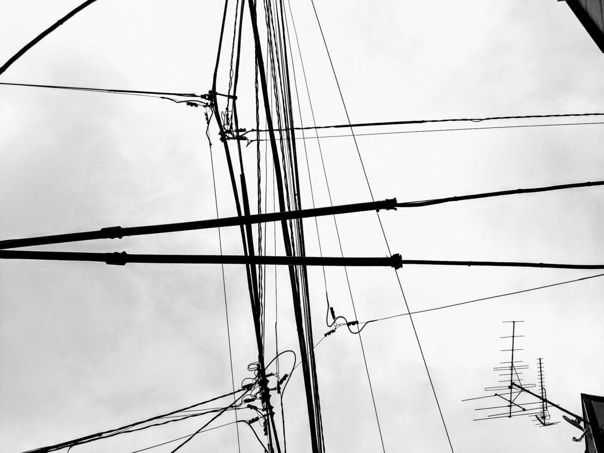 東京の電線風景