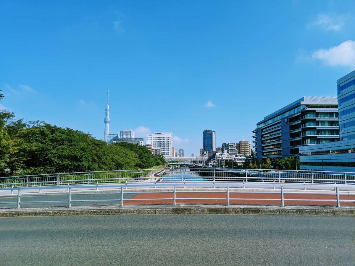江東区:住吉駅とスカイツリー