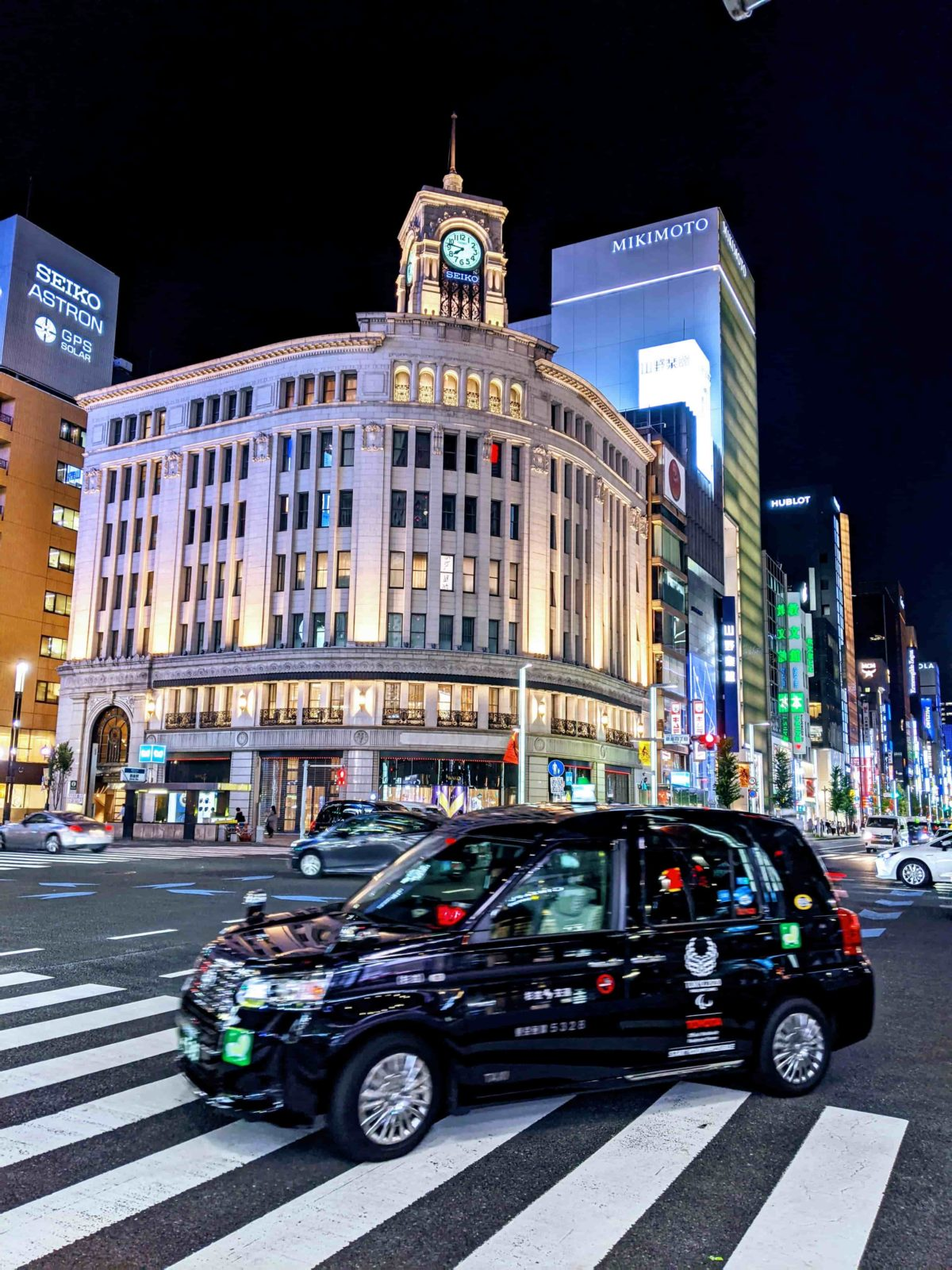 東京夜景:銀座三丁目
