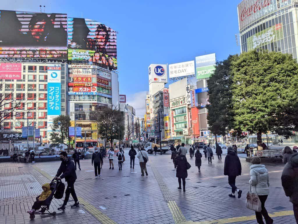 2021年1月3日の渋谷の様子(写真)