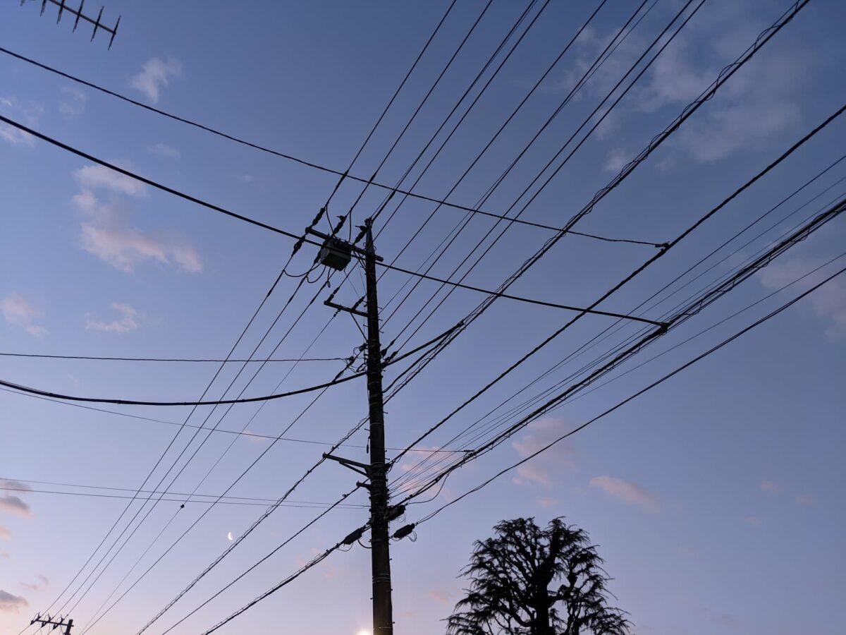 朝焼けの空の写真
