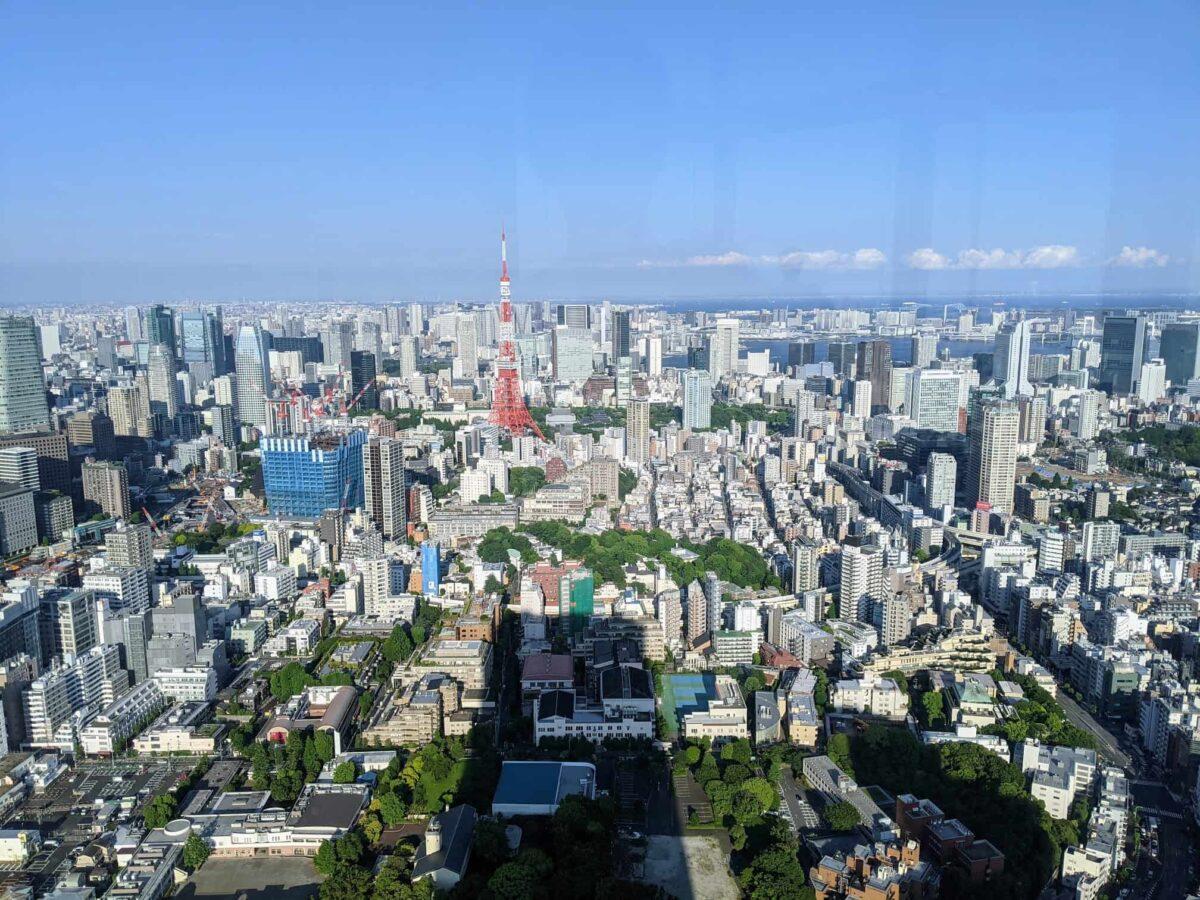 東京タワーと風景